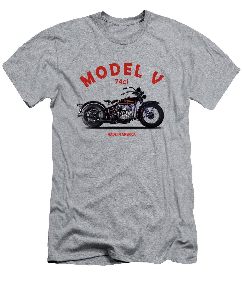Harley Davidson T-Shirt featuring the photograph Harley-Davidson Model V 1930 by Mark Rogan
