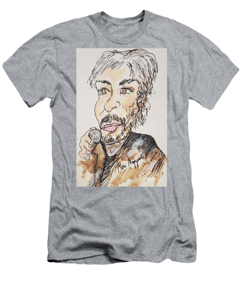 Kenny Loggins Men's T-Shirt (Athletic Fit) featuring the mixed media Kenny Loggins The Soundtrack King by Geraldine Myszenski
