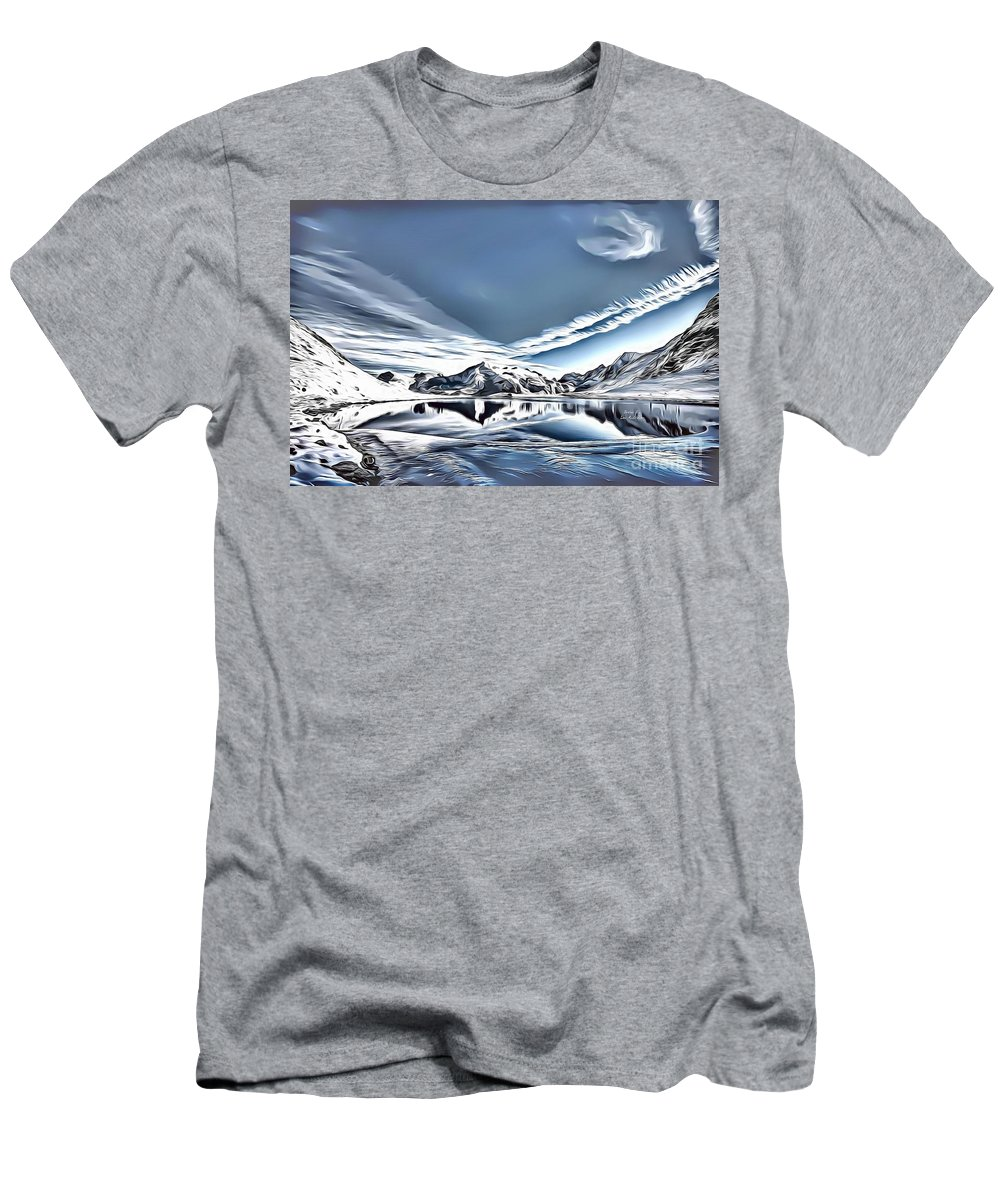 Landscapes Men's T-Shirt (Athletic Fit) featuring the digital art Landscapes 40 by Leo Rodriguez