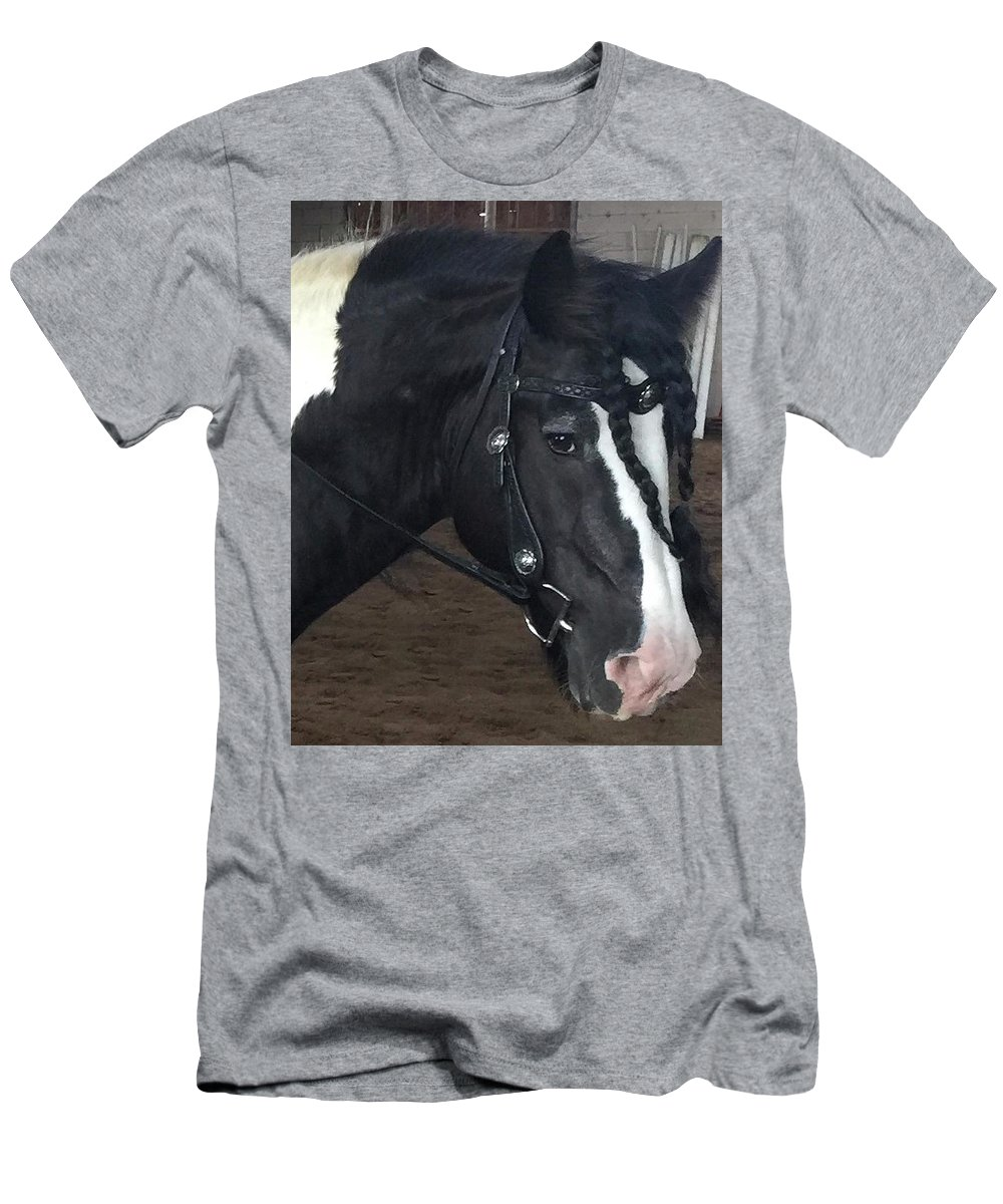 Leo Son Of Lion King Cr Men's T-Shirt (Athletic Fit) featuring the photograph Leo In Braids by Marsha Gulick