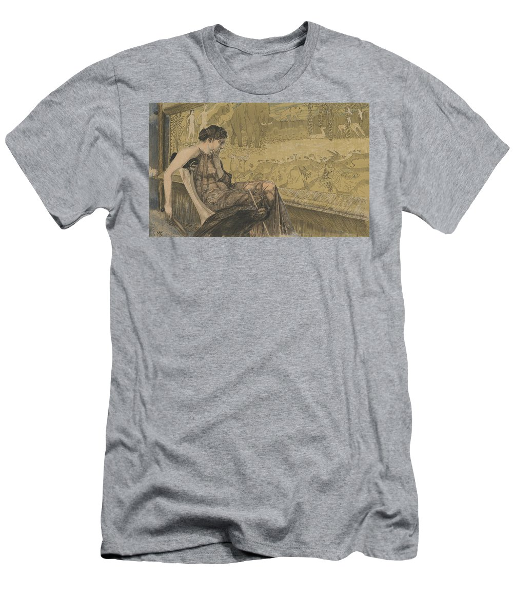 19th Century Art Men's T-Shirt (Athletic Fit) featuring the relief Leuckart Certificate by Max Klinger