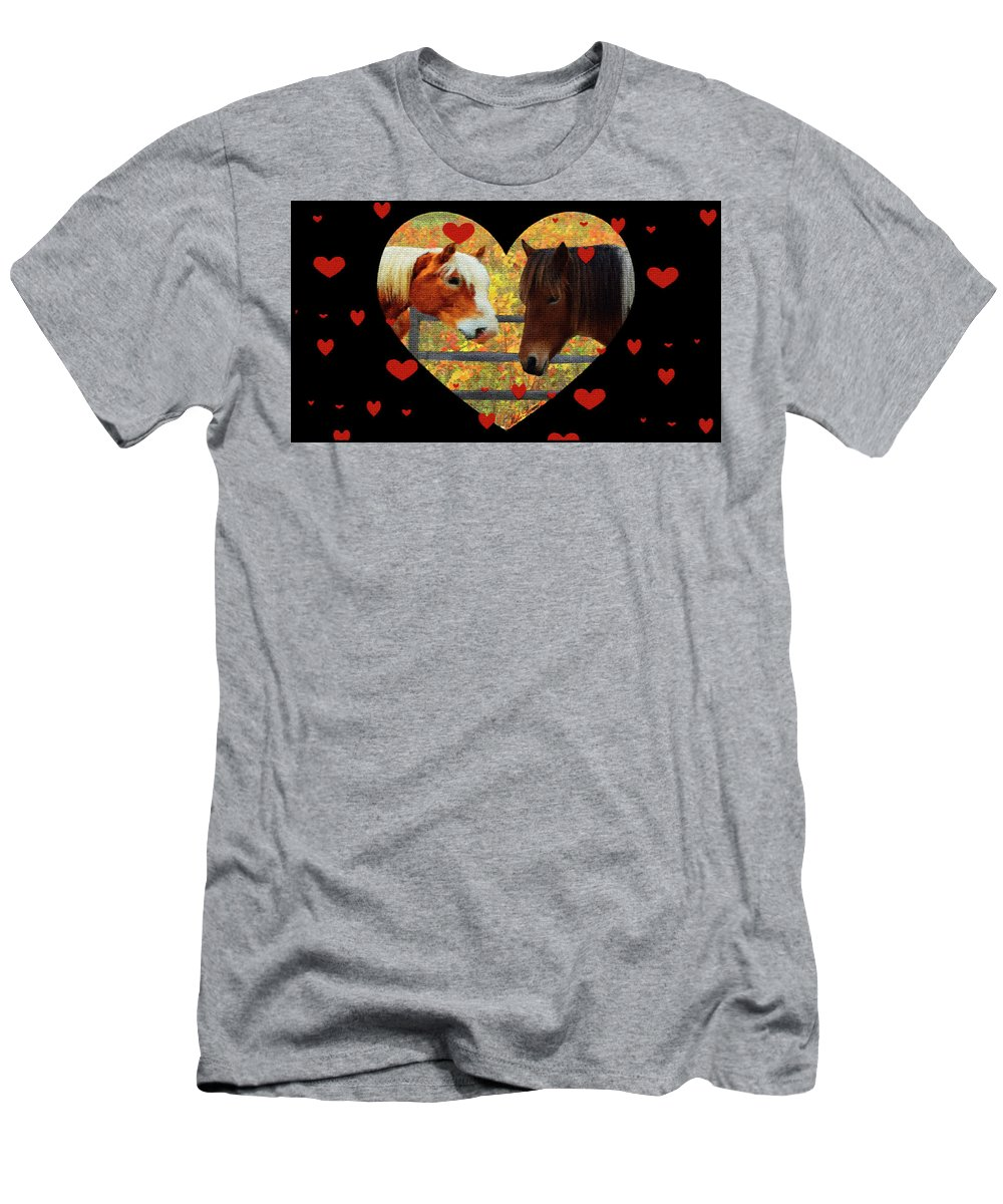 Living Without Borders-love Mosaic Men's T-Shirt (Athletic Fit) featuring the mixed media Living Without Borders-love Mosaic by Mike Breau