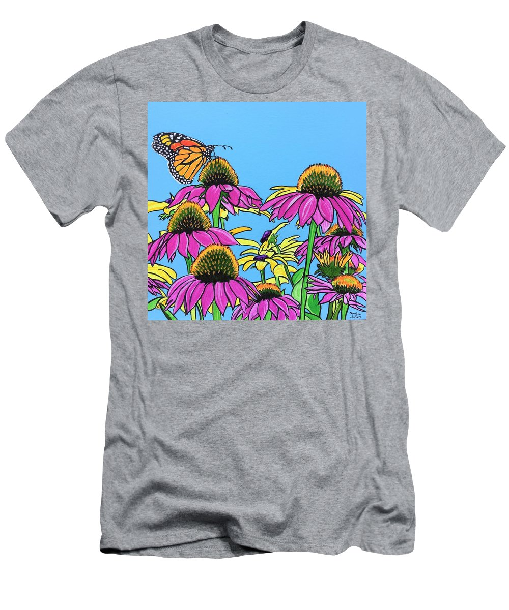 Monarch Men's T-Shirt (Athletic Fit) featuring the painting Magnificant Monarch by Sonja Jones