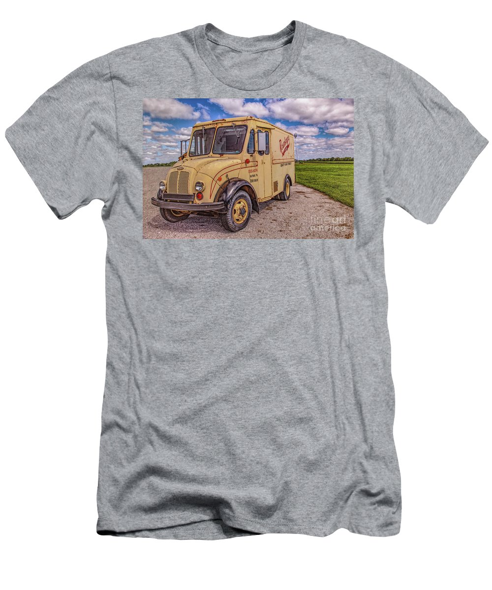 Milk Truck Men's T-Shirt (Athletic Fit) featuring the photograph Milk Truck by Lynn Sprowl