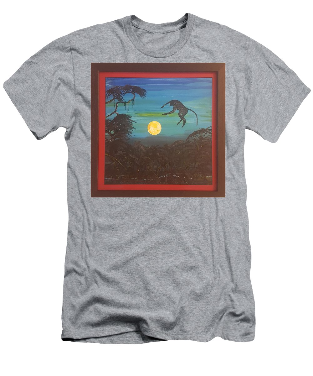 Moonlight Baboon T-Shirt featuring the photograph Moonlight Baboon by Quintus Curtius