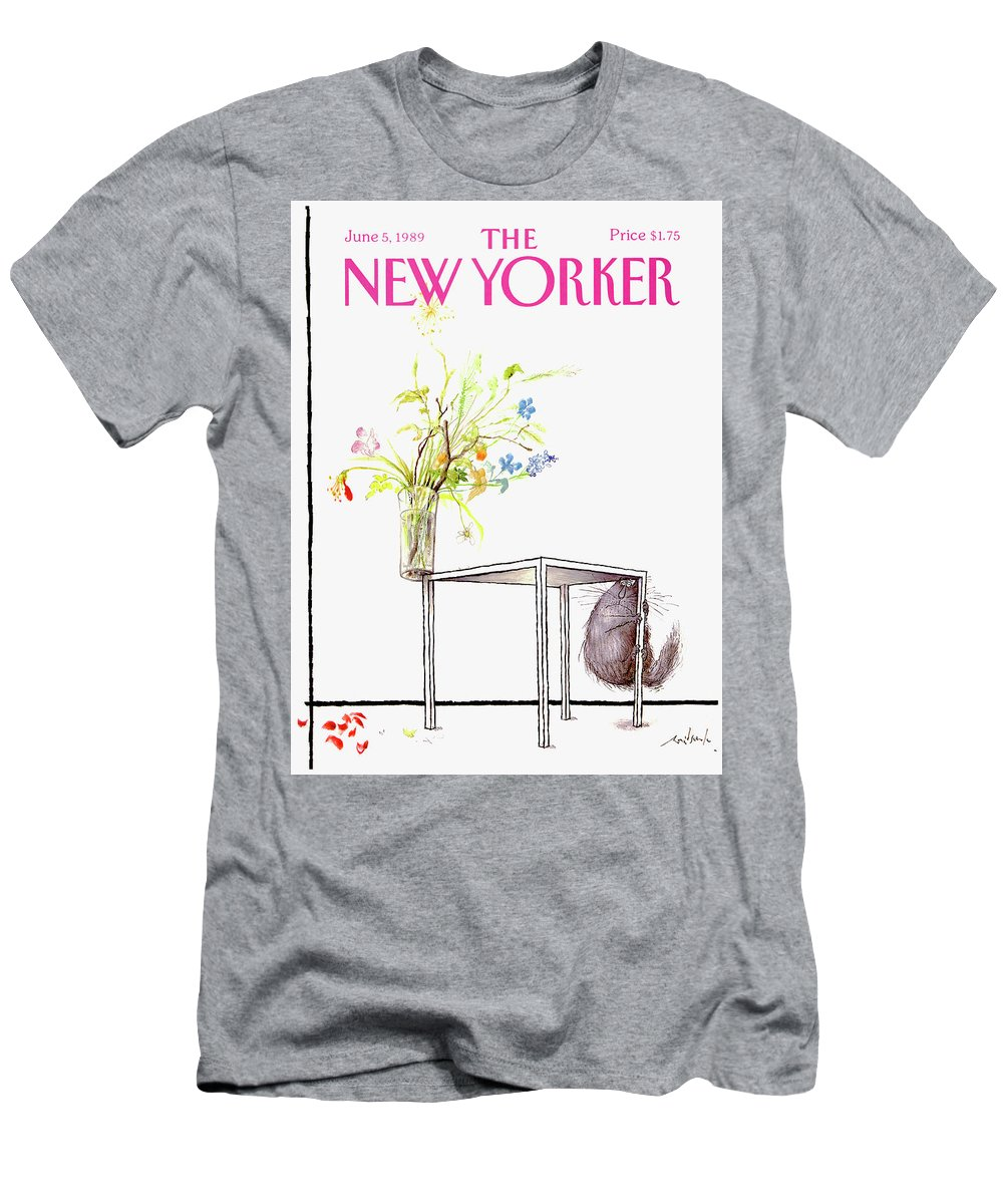 Animal Men's T-Shirt (Athletic Fit) featuring the drawing New Yorker Cover June 5 1989 by Ronald Searle