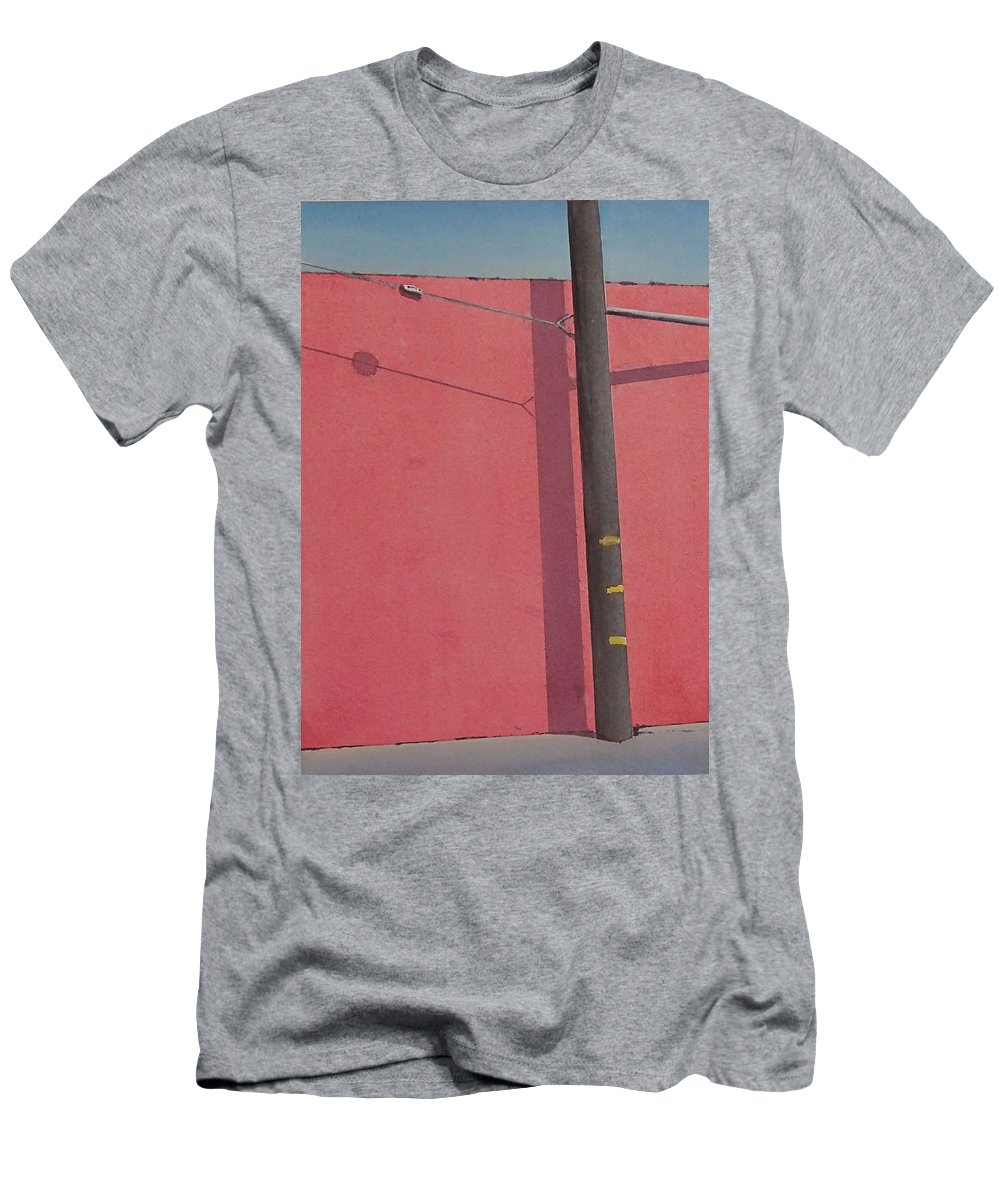 T-Shirt featuring the painting Pink wall by Philip Fleischer