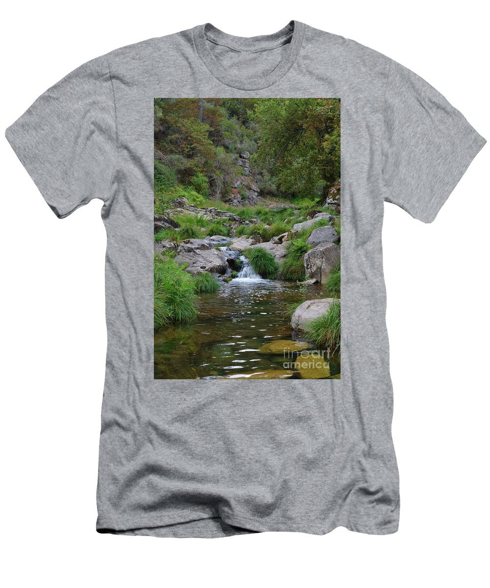 Poco Negro T-Shirt featuring the photograph Poco Negro River In Carvalhais by Angelo DeVal