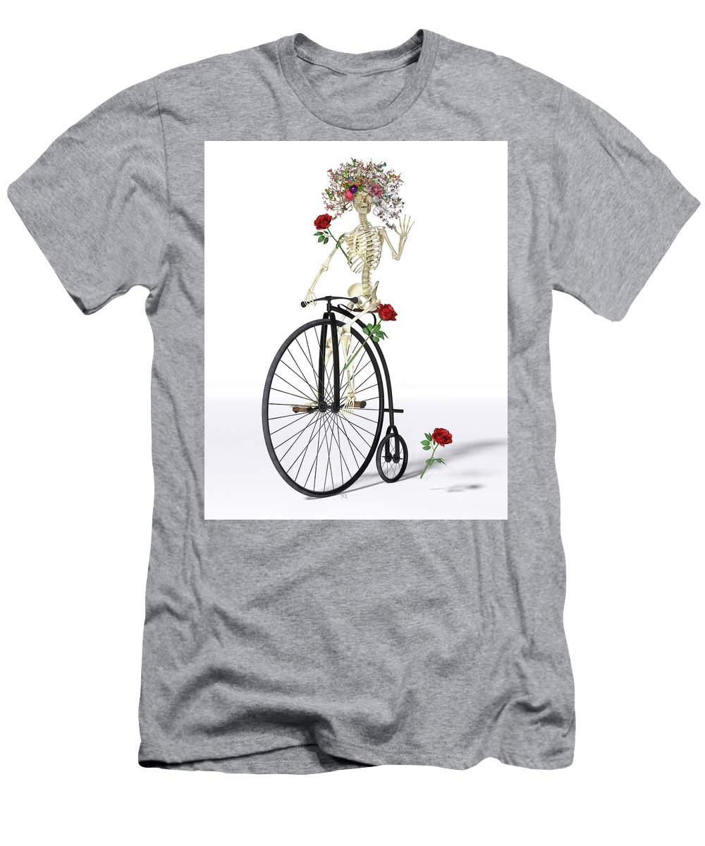 Skeleton Men's T-Shirt (Athletic Fit) featuring the digital art Rambling Rosy by Betsy Knapp