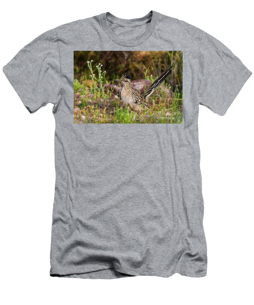 Thinking Men's T-Shirt (Athletic Fit) featuring the photograph Roadrunner Whimsy by Jeanette Brown