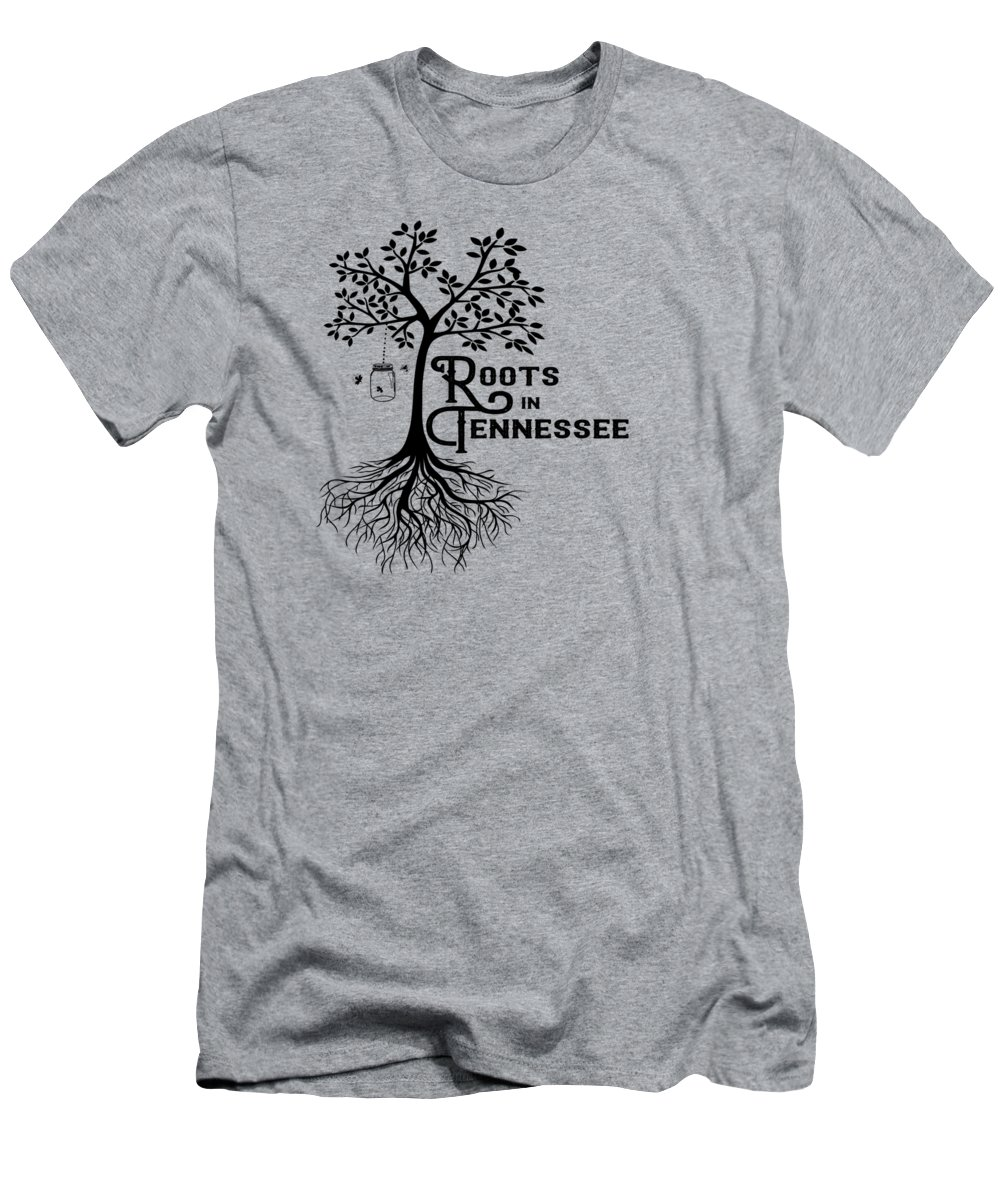 Tennessee Men's T-Shirt (Athletic Fit) featuring the digital art Roots In Tn by Heather Applegate