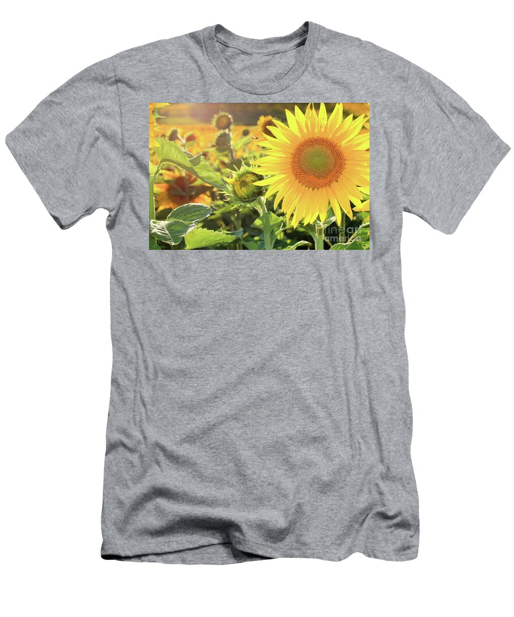 Sunflower Men's T-Shirt (Athletic Fit) featuring the photograph Save The Bees by Martina Schneeberg-Chrisien