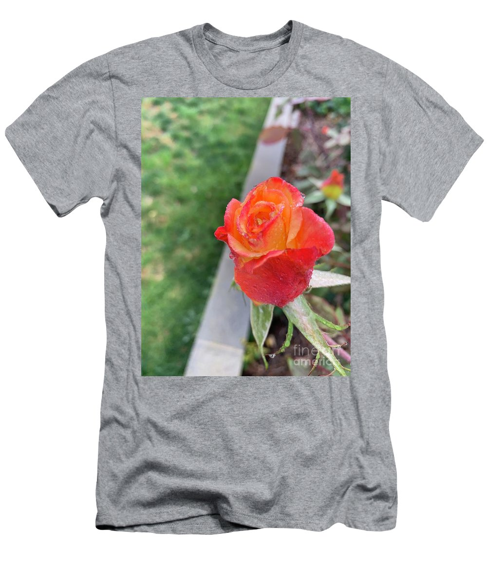 Nature Photo T-Shirt featuring the photograph Single Rose by Epic Luis Art