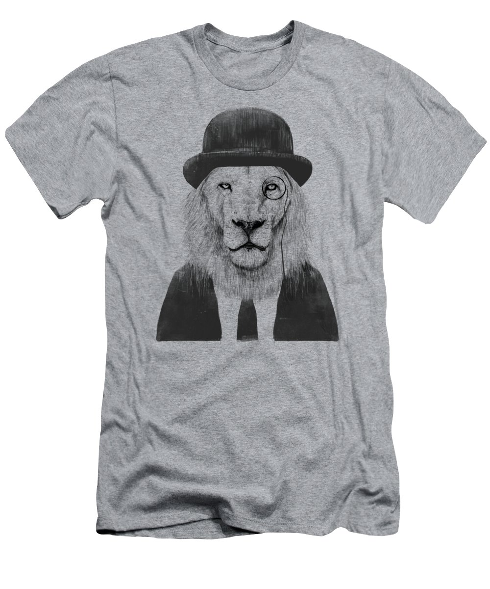 Lion T-Shirt featuring the mixed media Sir lion by Balazs Solti