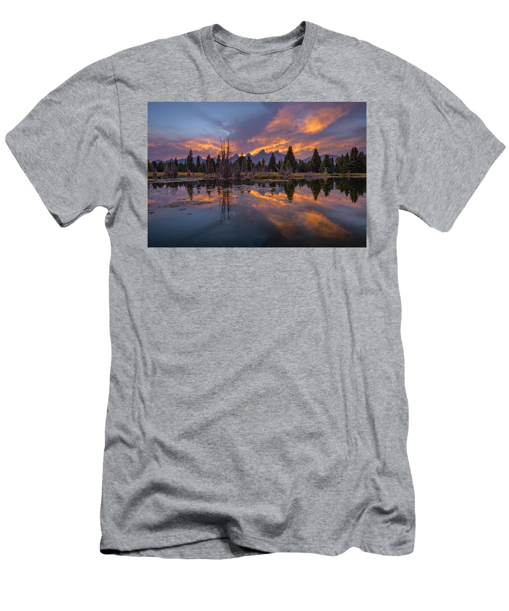 North America Men's T-Shirt (Athletic Fit) featuring the photograph Snake River Glory by Christian Heeb