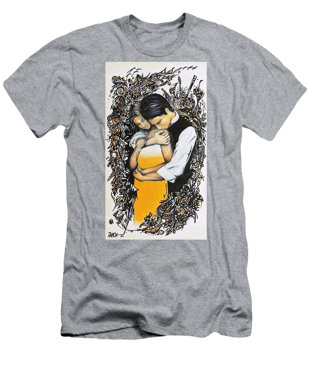 Romance Men's T-Shirt (Athletic Fit) featuring the painting Song by Ivan Zanon