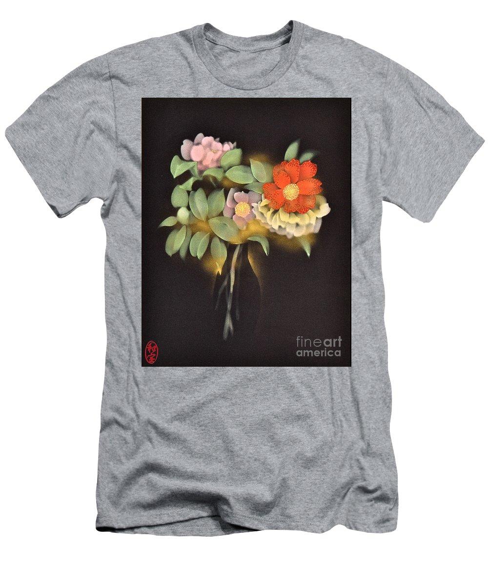 T-Shirt featuring the digital art Spirit of Japan O1 by Miho Kanamori