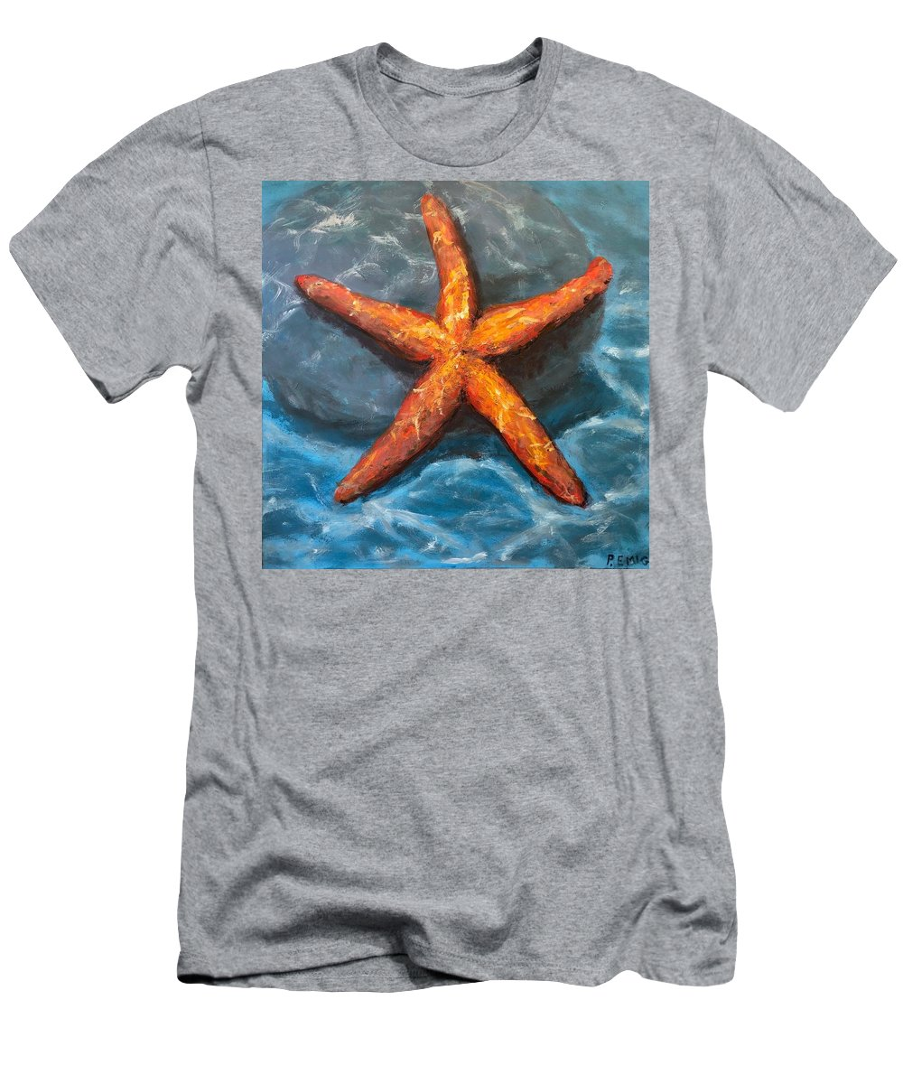 Starfish T-Shirt featuring the painting Starfish by Paul Emig