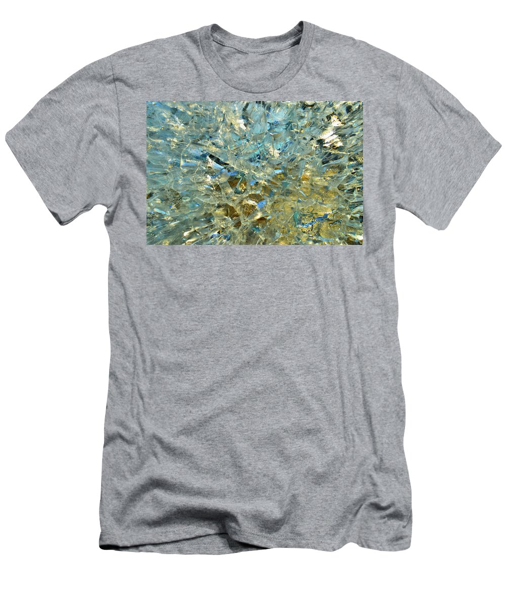 Abstract Men's T-Shirt (Athletic Fit) featuring the digital art Structures In Ice Two by Lyle Crump