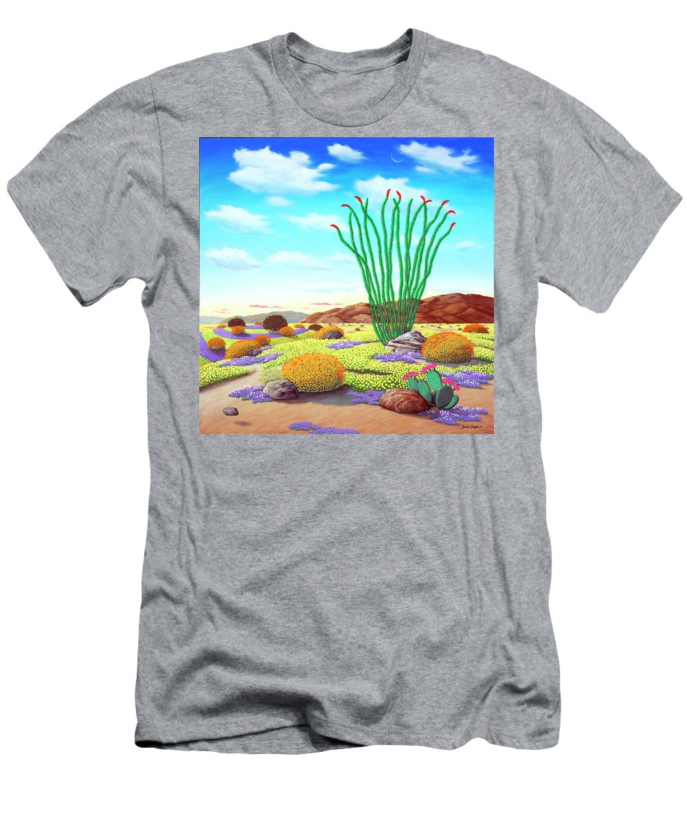 Flowers T-Shirt featuring the painting Super Bloom by Snake Jagger