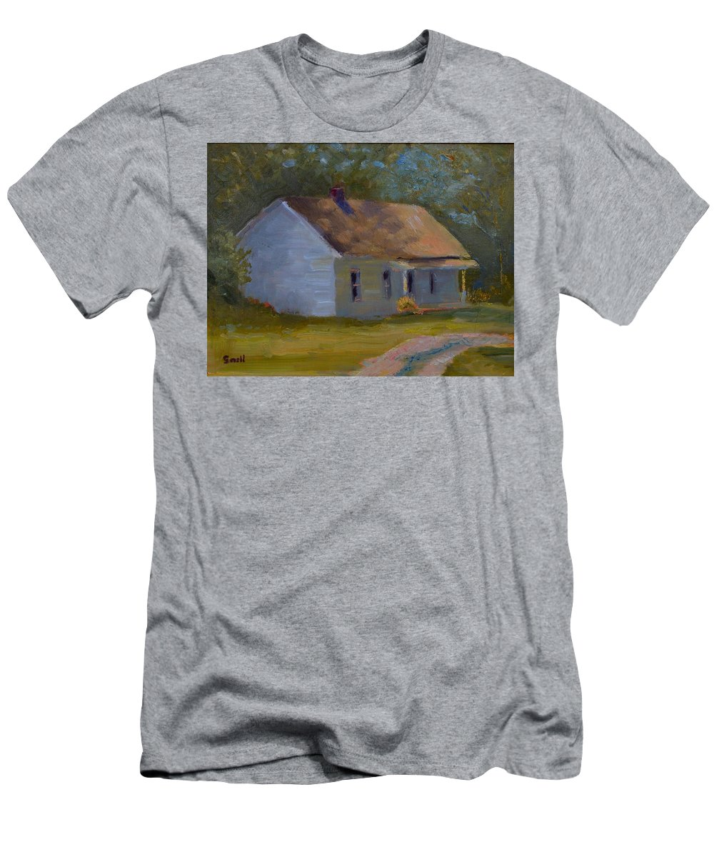 Kentucky T-Shirt featuring the painting Tay's Cottage by Roger Snell