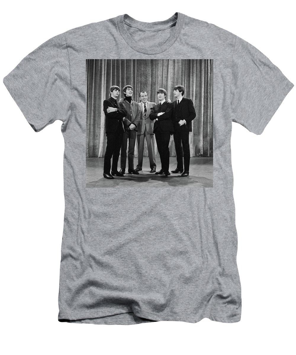 The Beatles T-Shirt featuring the photograph the beatles and ed sullivan - February, 1964 by Mountain Dreams