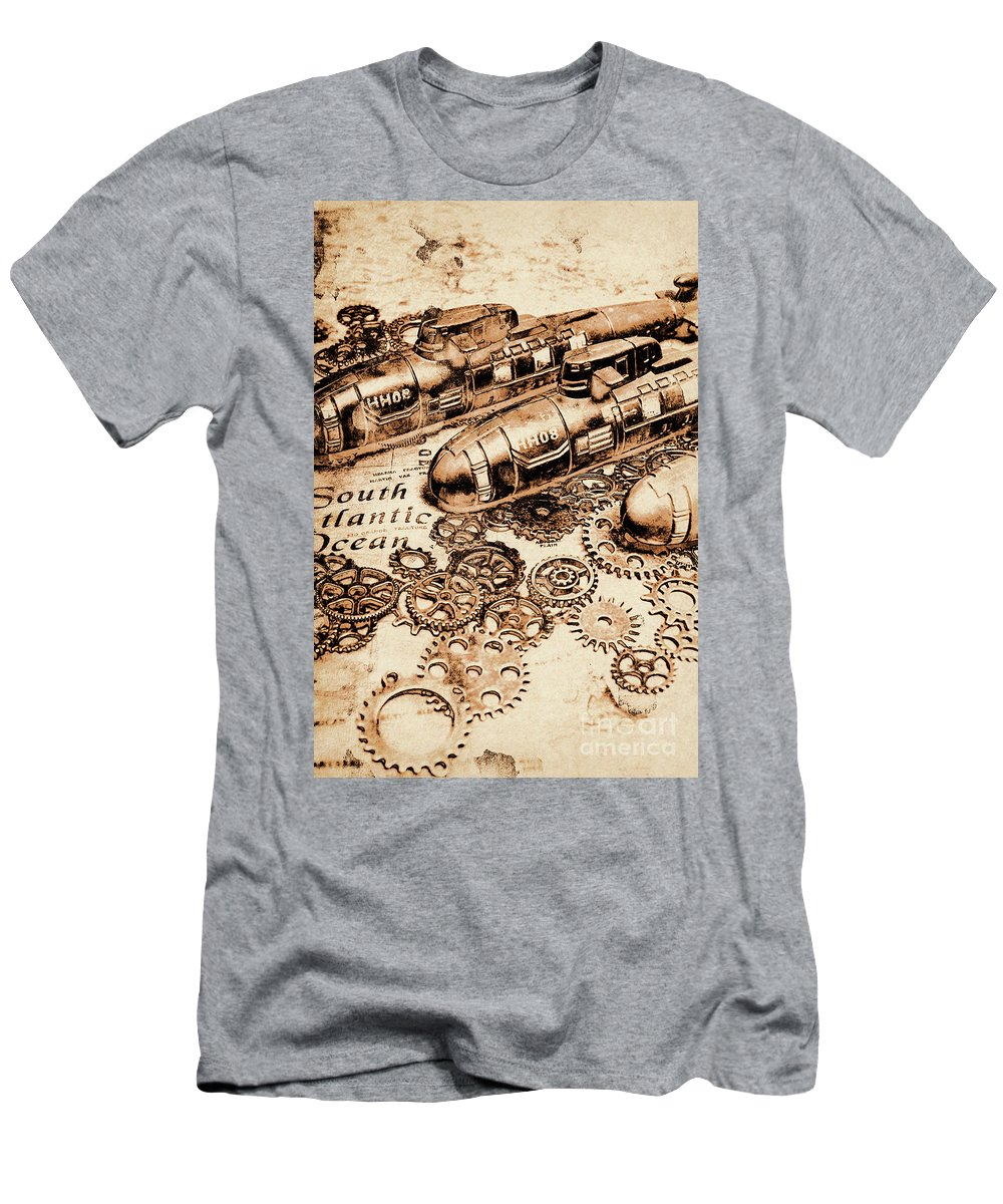 War Men's T-Shirt (Athletic Fit) featuring the photograph The Old Naval War Room by Jorgo Photography - Wall Art Gallery
