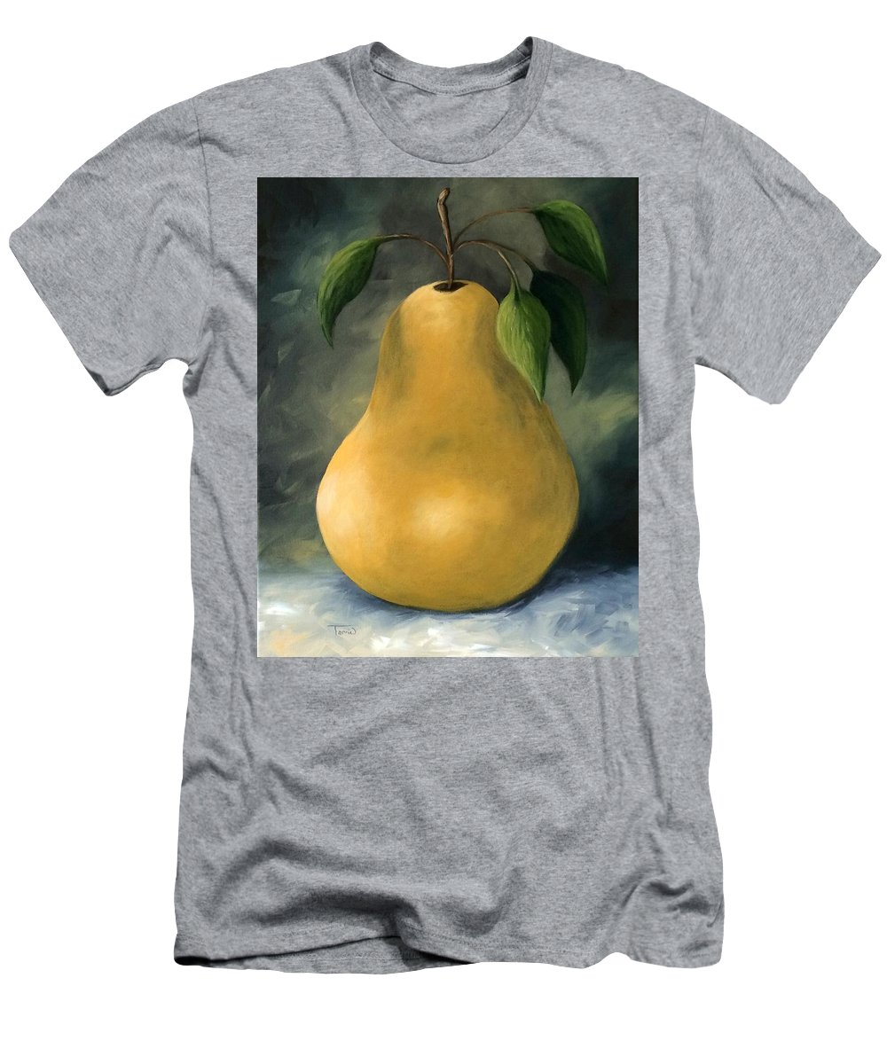 Pear Men's T-Shirt (Athletic Fit) featuring the painting The Treasured Pear by Torrie Smiley