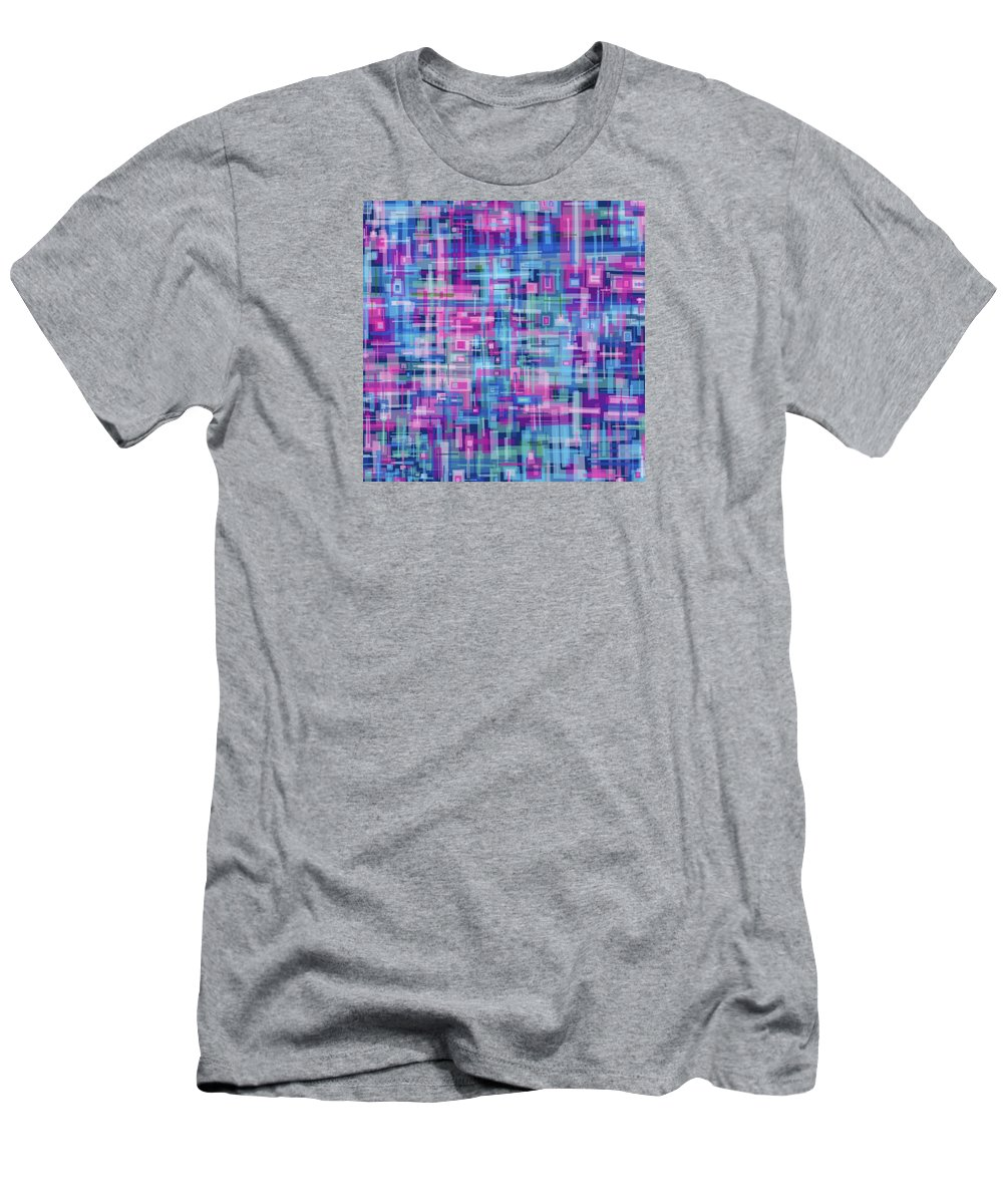 Nonobjective Men's T-Shirt (Athletic Fit) featuring the digital art Thought Patterns #4 by James Fryer