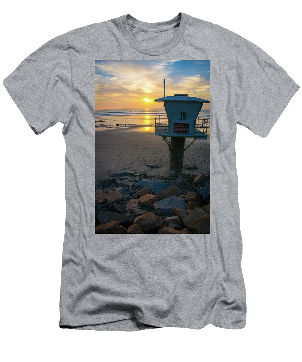Surf Men's T-Shirt (Athletic Fit) featuring the photograph Tower 19, Office With A View 7 by Richard A Brown