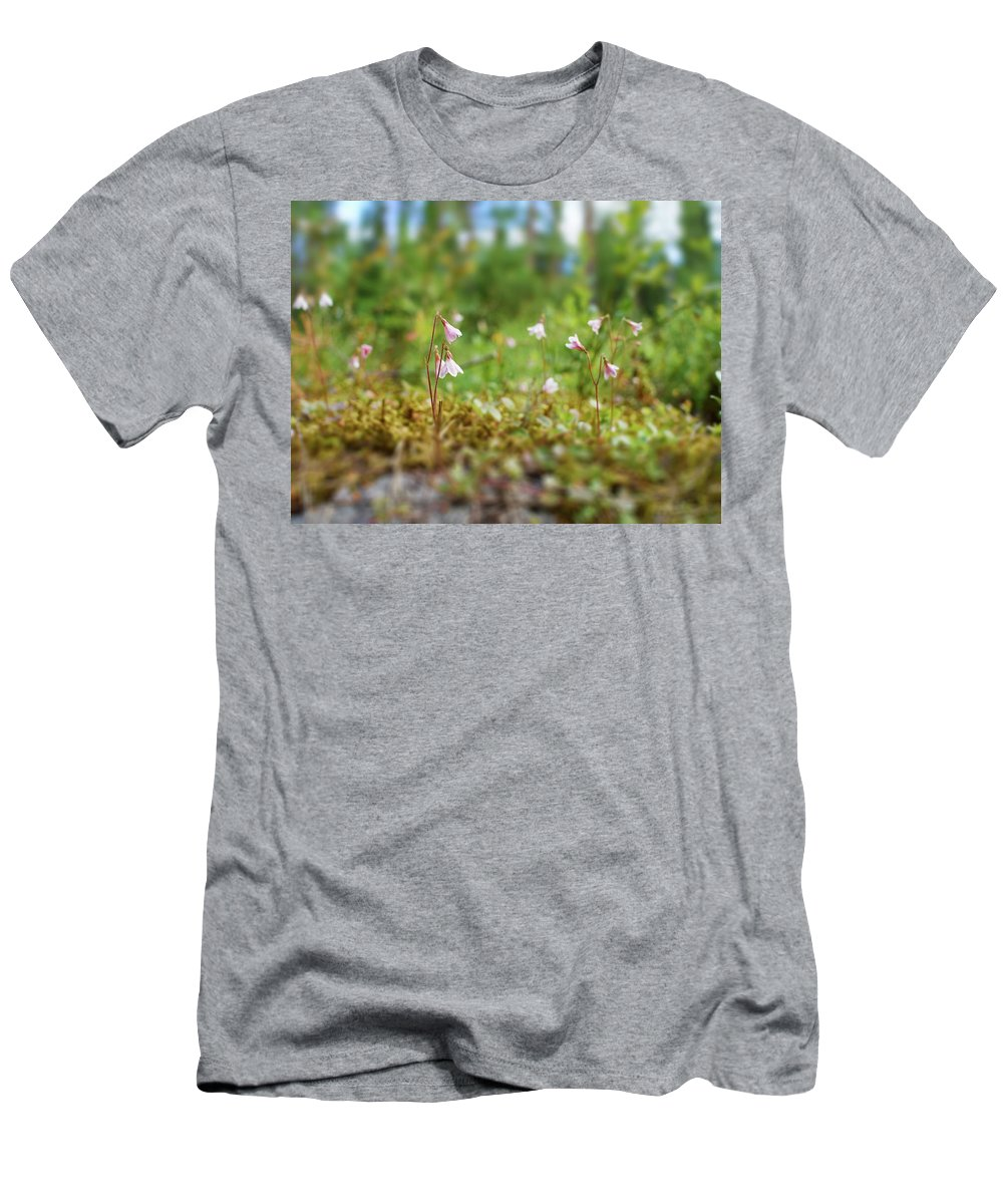 Helvetinjarvi National Park Men's T-Shirt (Athletic Fit) featuring the photograph Twinflower Forest by Jouko Lehto