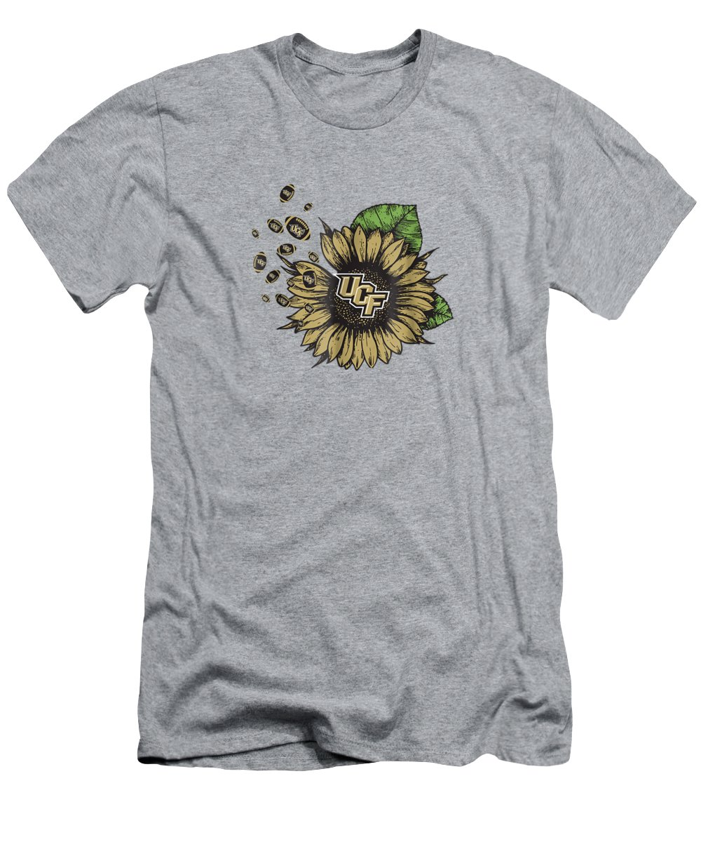 girls' Novelty T-shirts T-Shirt featuring the digital art Ucf Knights Sunflower And Football Tshirt Apparel by Do David