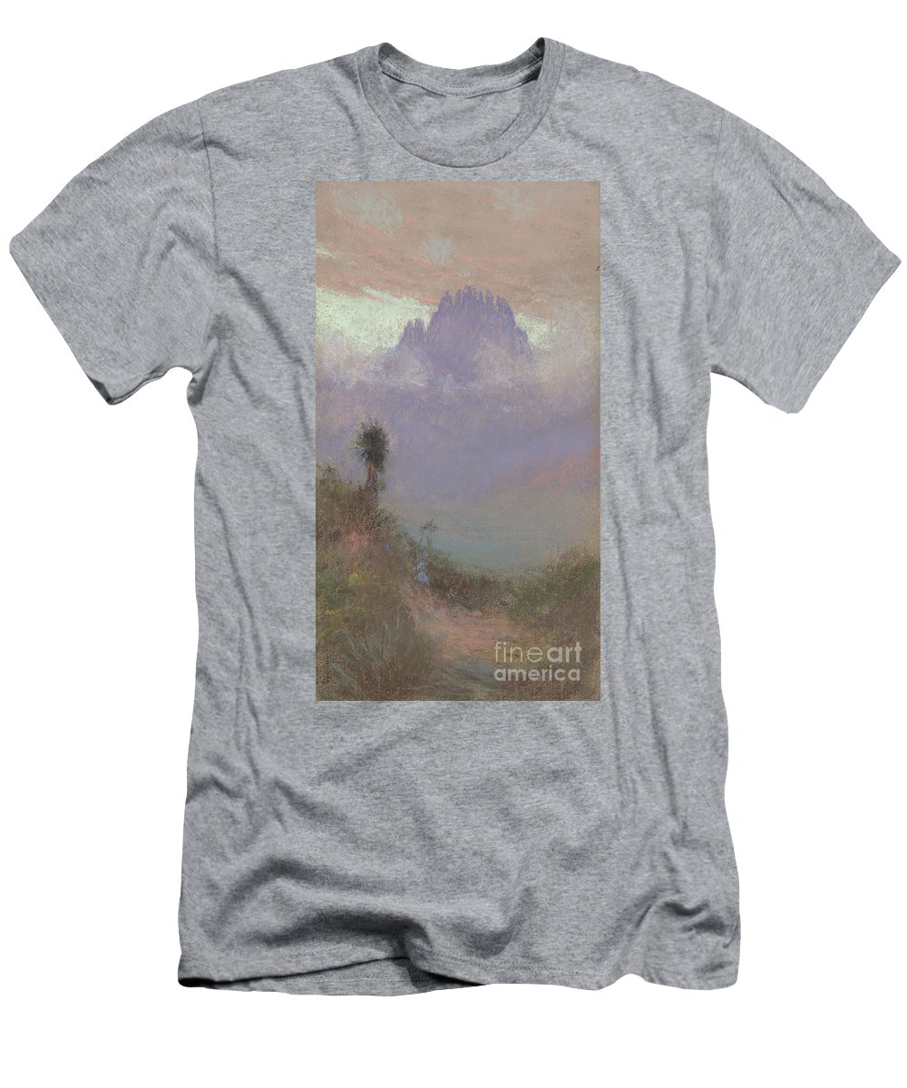 Mountainous T-Shirt featuring the painting Untitled Mountain Landscape, 1920, Pastel by Charles Franklin Reaugh
