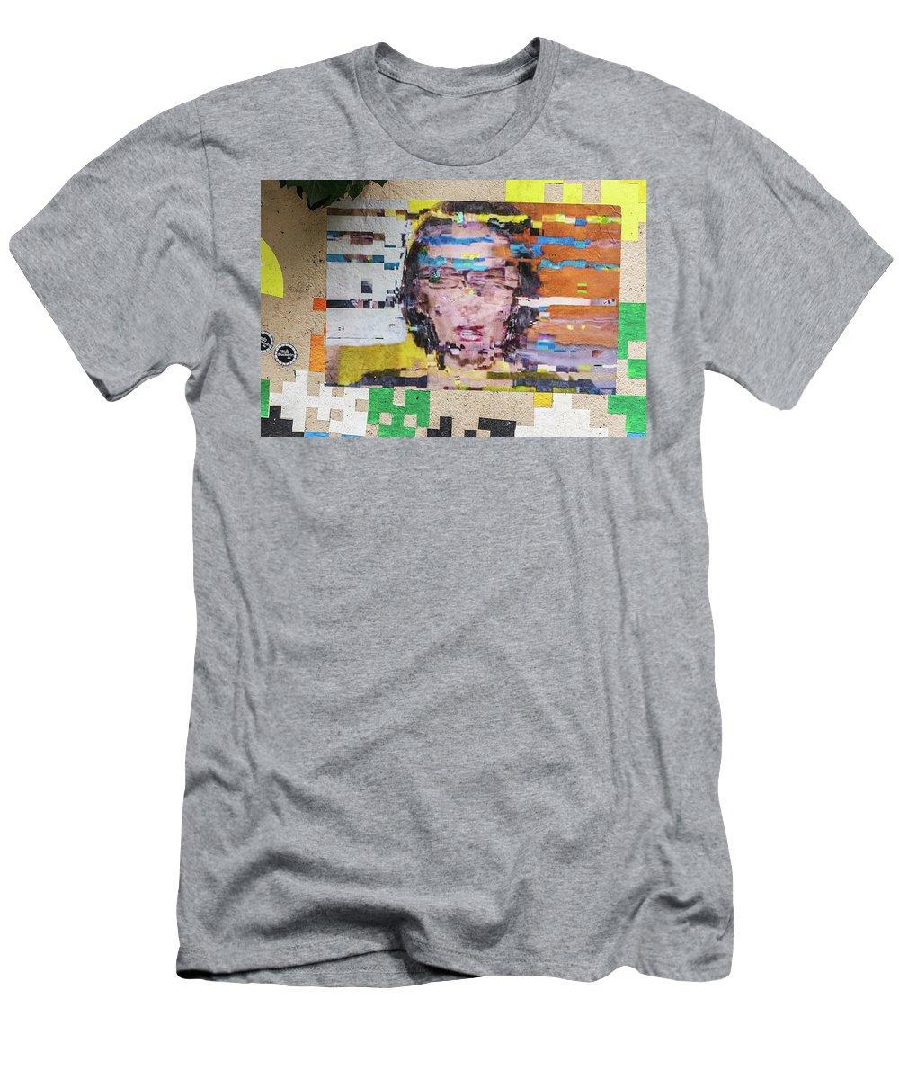 Graffiti Social Media Men's T-Shirt (Athletic Fit) featuring the pyrography Vertigo Paris by Steven Stregevsky