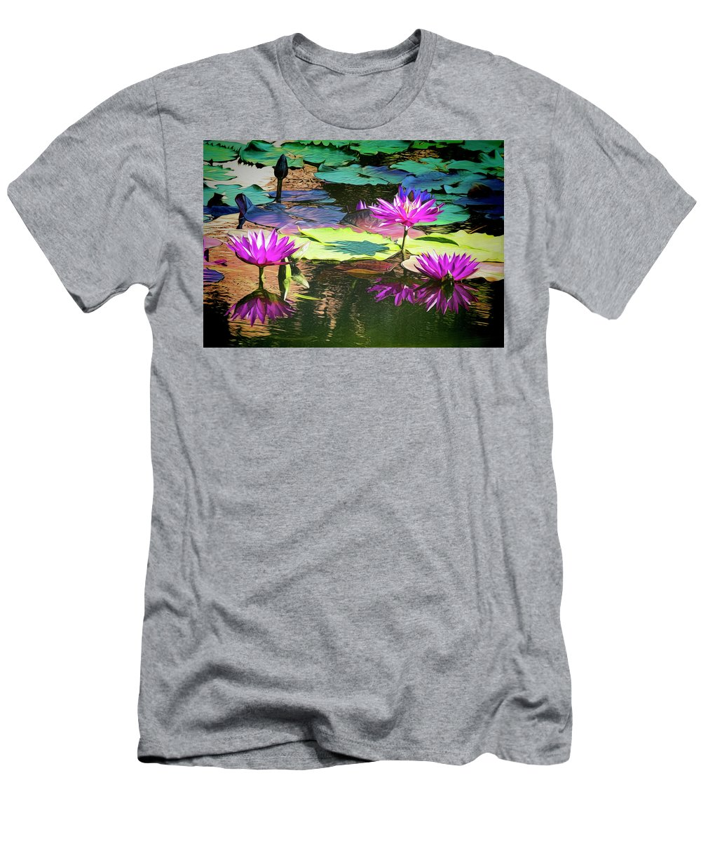 California Men's T-Shirt (Athletic Fit) featuring the photograph Water Lily 6 by Claude LeTien