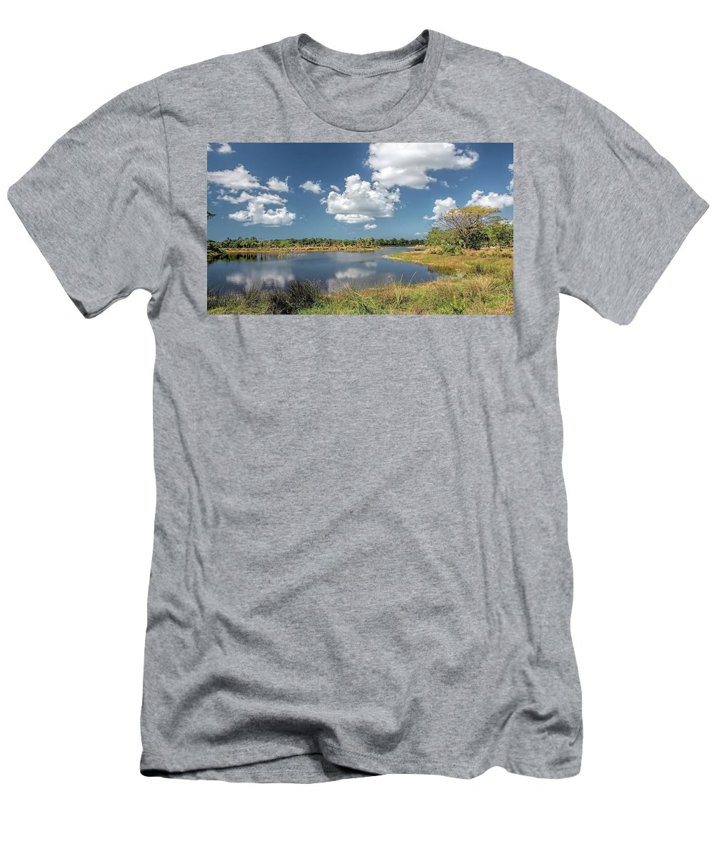Wetlands Men's T-Shirt (Athletic Fit) featuring the photograph Wetlands by Matthew Lerman