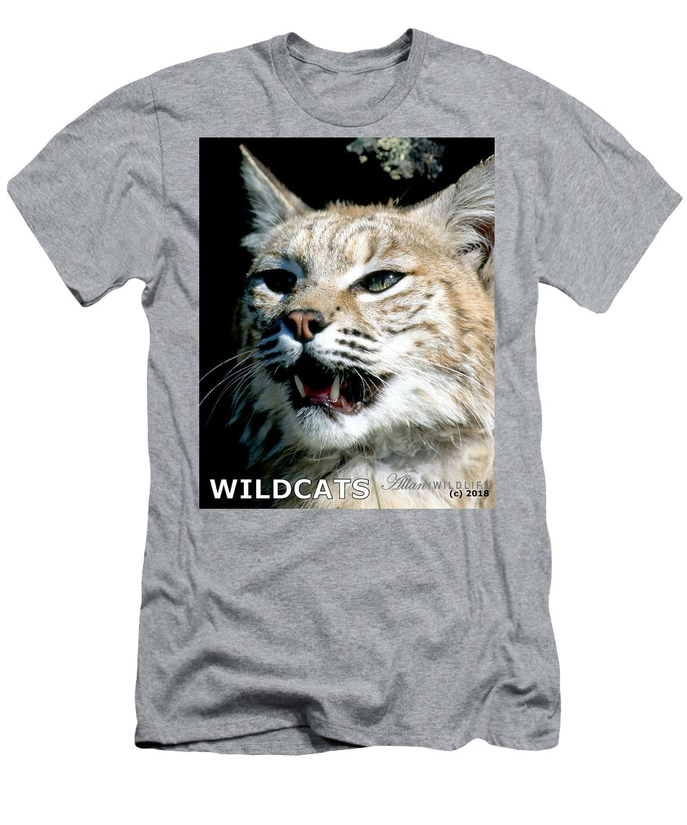 Wildcats Men's T-Shirt (Athletic Fit) featuring the photograph Wildcats Mascot 2 by Larry Allan