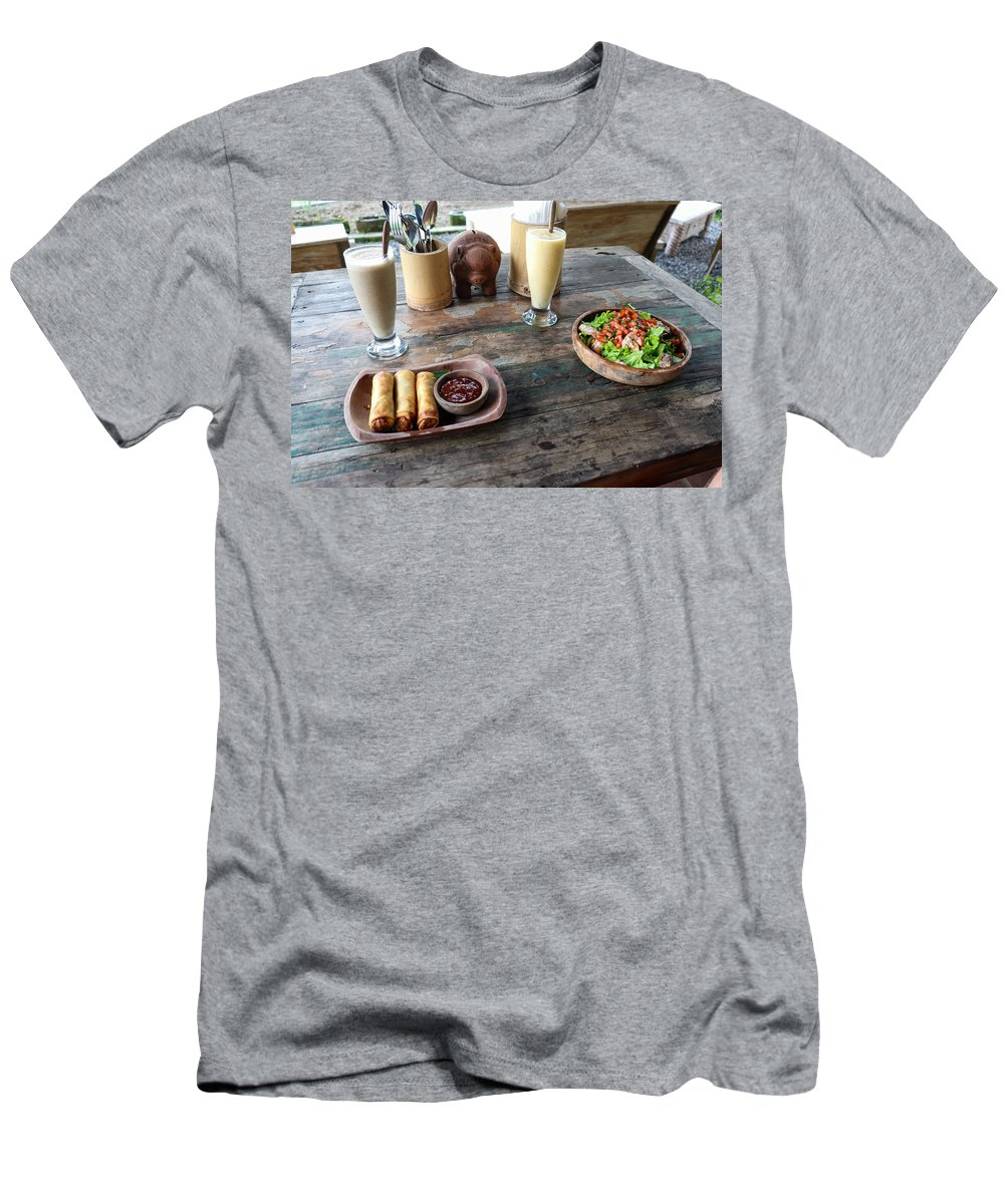 Indonesia T-Shirt featuring the digital art Balinese dinner by Worldvibes1