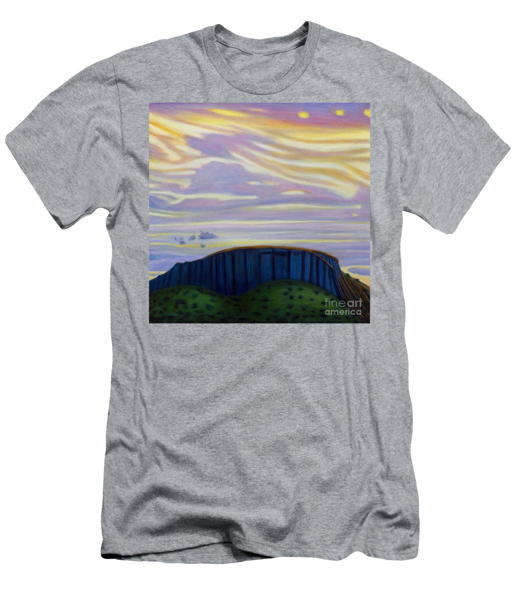 Black Mesa T-Shirt featuring the painting Black Mesa by Brian Commerford