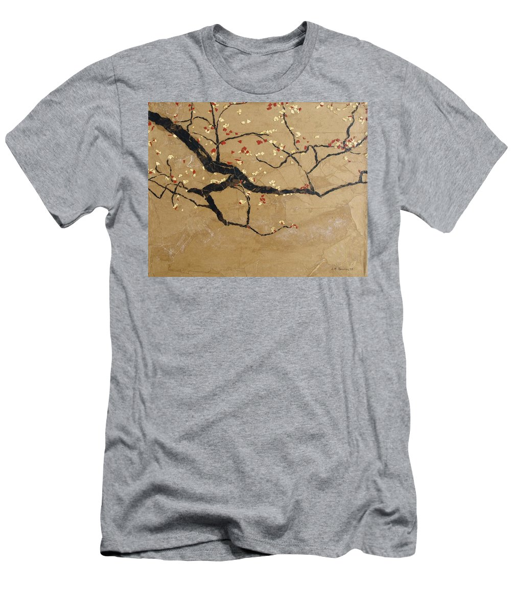 Blooming Branch T-Shirt featuring the painting Branch by Leah Tomaino