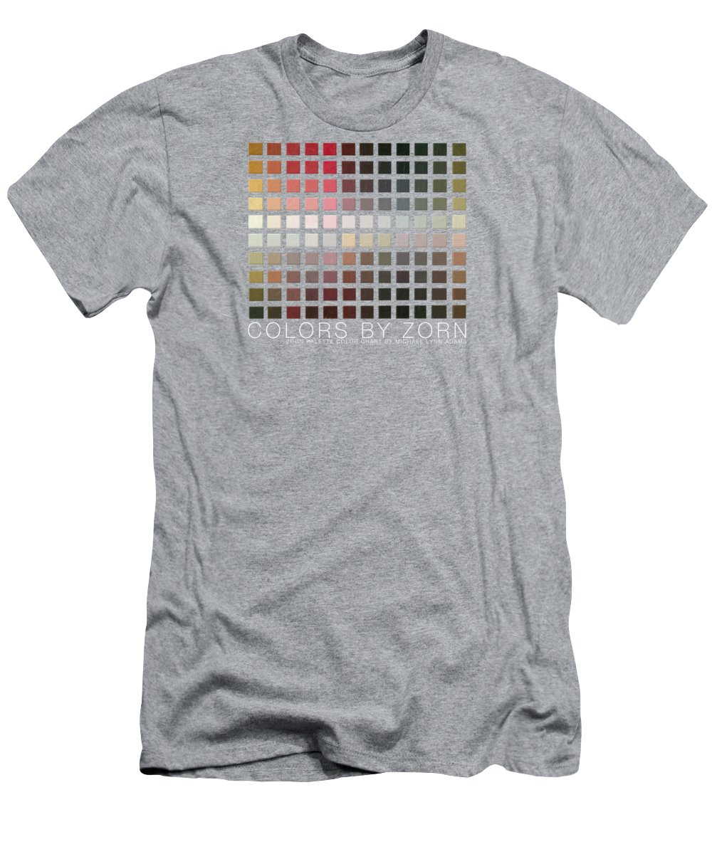 Zorn Color Palette T-Shirt featuring the painting Colors By Zorn by Michael Lynn Adams