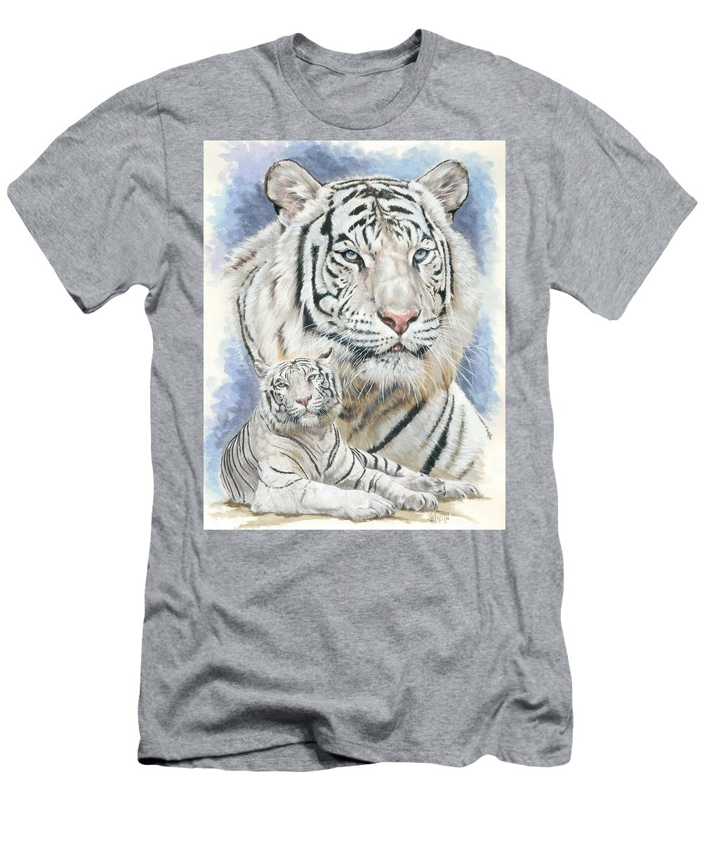 Big Cat T-Shirt featuring the mixed media Dignity by Barbara Keith