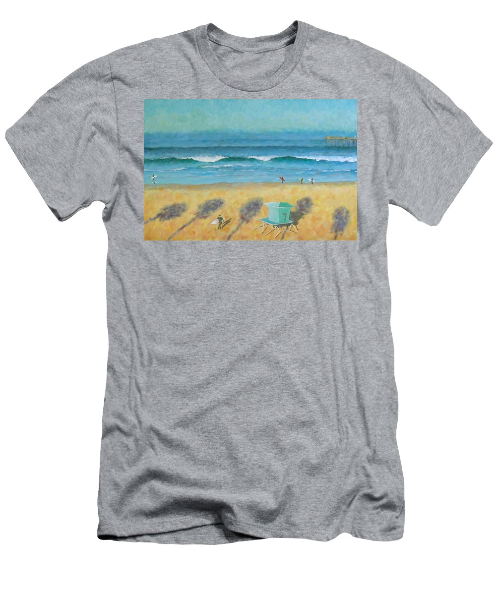 Life Guard Tower T-Shirt featuring the painting Tower Number Seven by Philip Fleischer