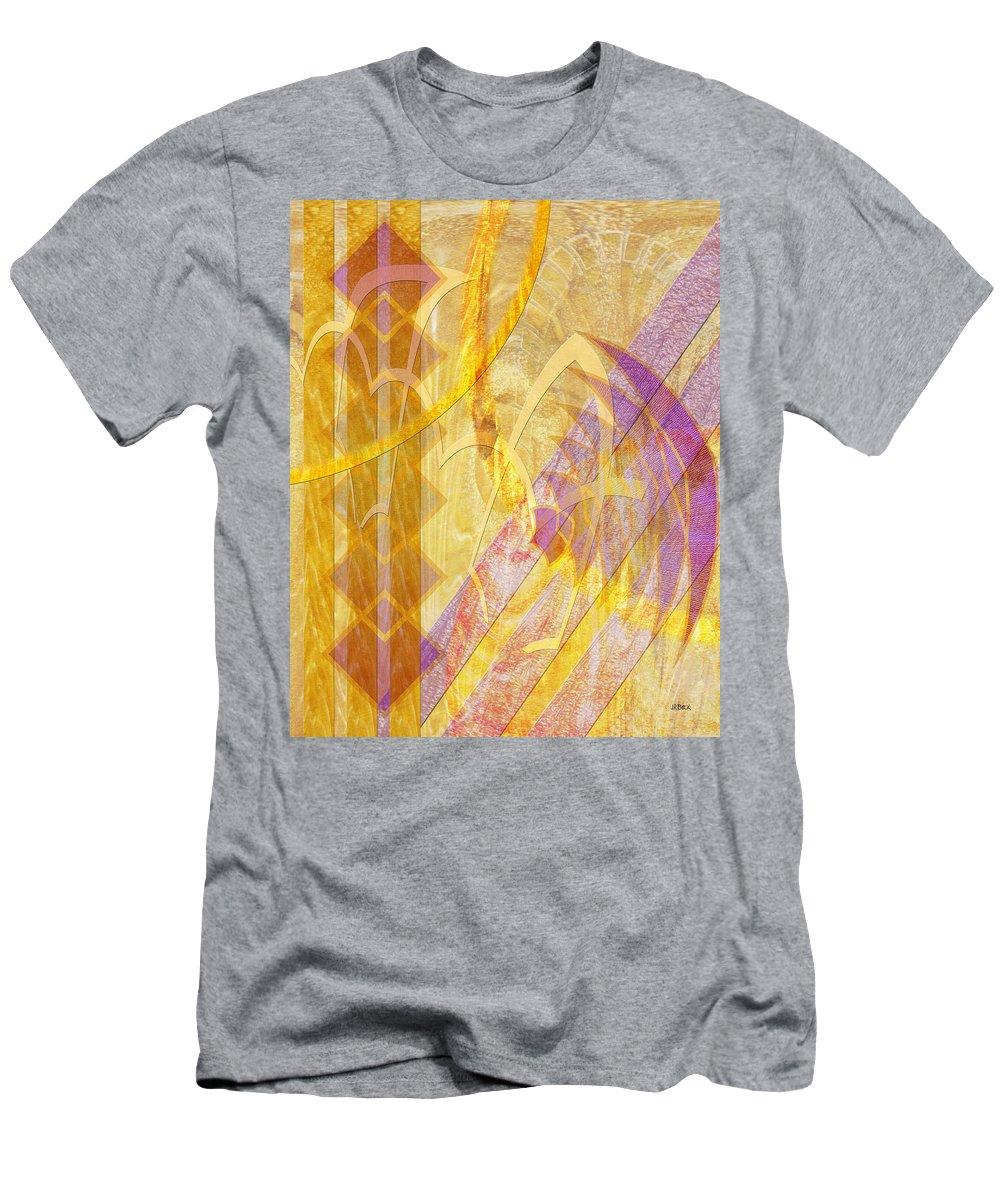 Gold Fusion T-Shirt featuring the digital art Gold Fusion by John Robert Beck