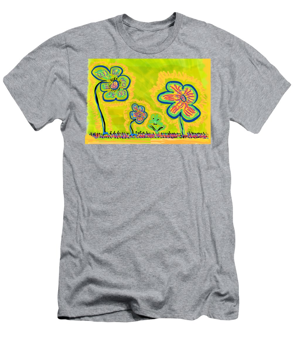 Spring T-Shirt featuring the drawing Looking for Spring by Pam Roth O'Mara