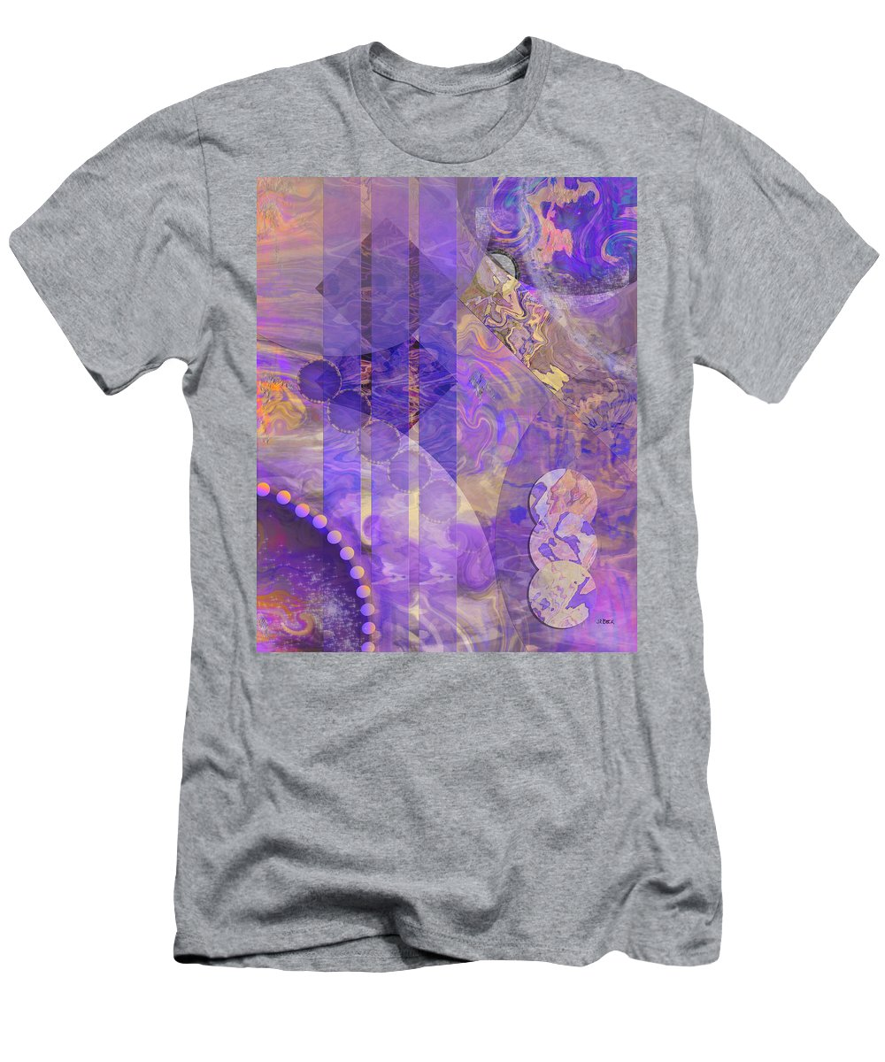 Lunar Impressions 2 T-Shirt featuring the digital art Lunar Impressions 2 by John Robert Beck