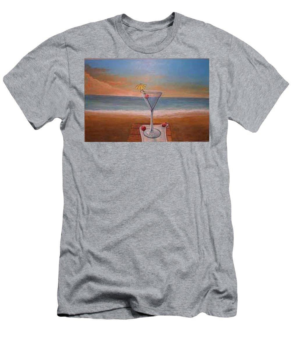Rick Huotari T-Shirt featuring the painting Martini In Door County by Rick Huotari