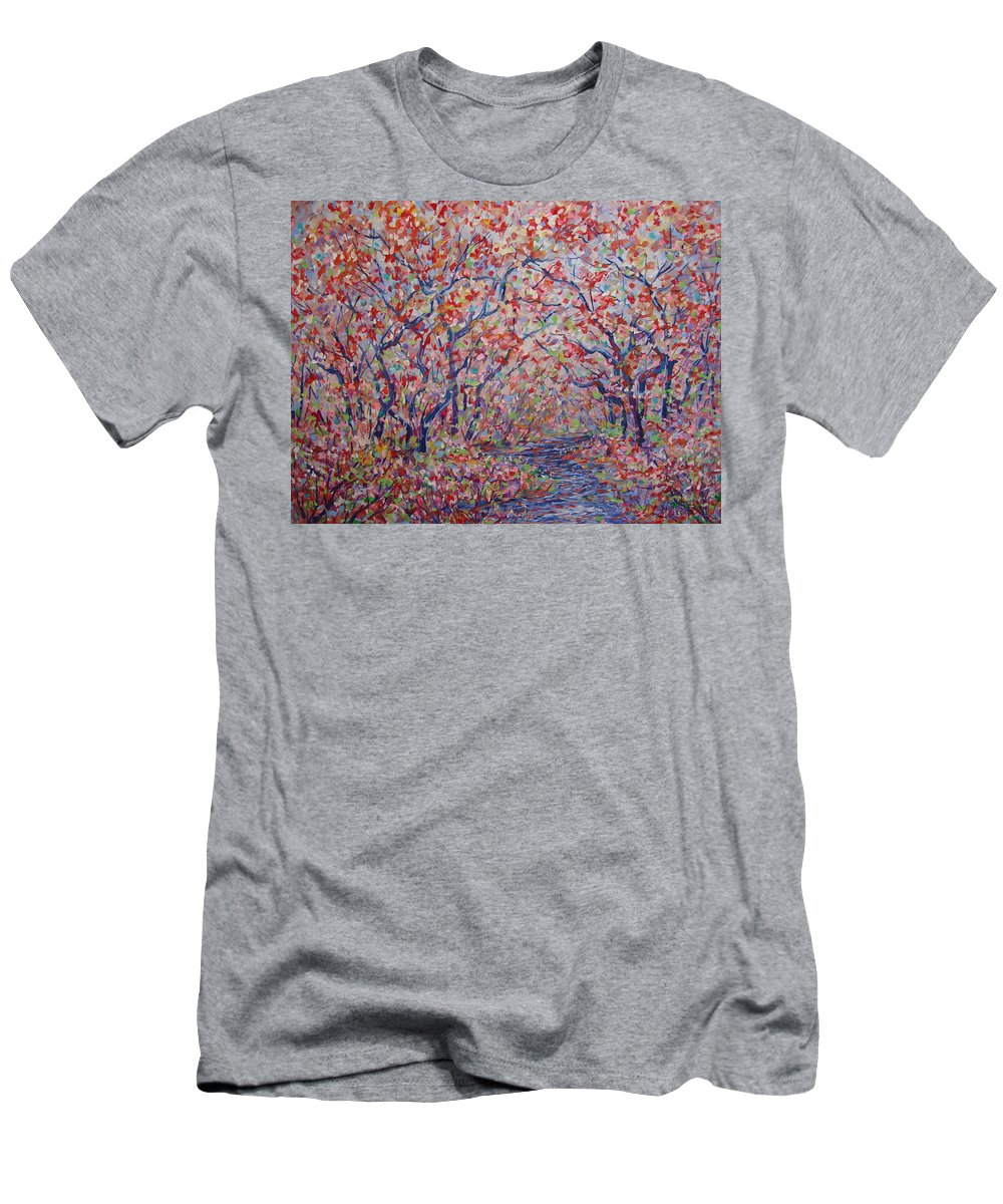 Landscape T-Shirt featuring the painting Poetic Forest. by Leonard Holland