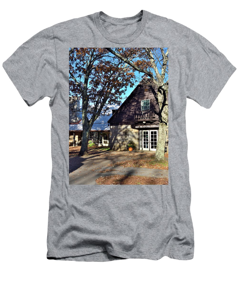 Big Meadows Lodge T-Shirt featuring the photograph Shenandoah National Park - Big Meadows Lodge by Brendan Reals