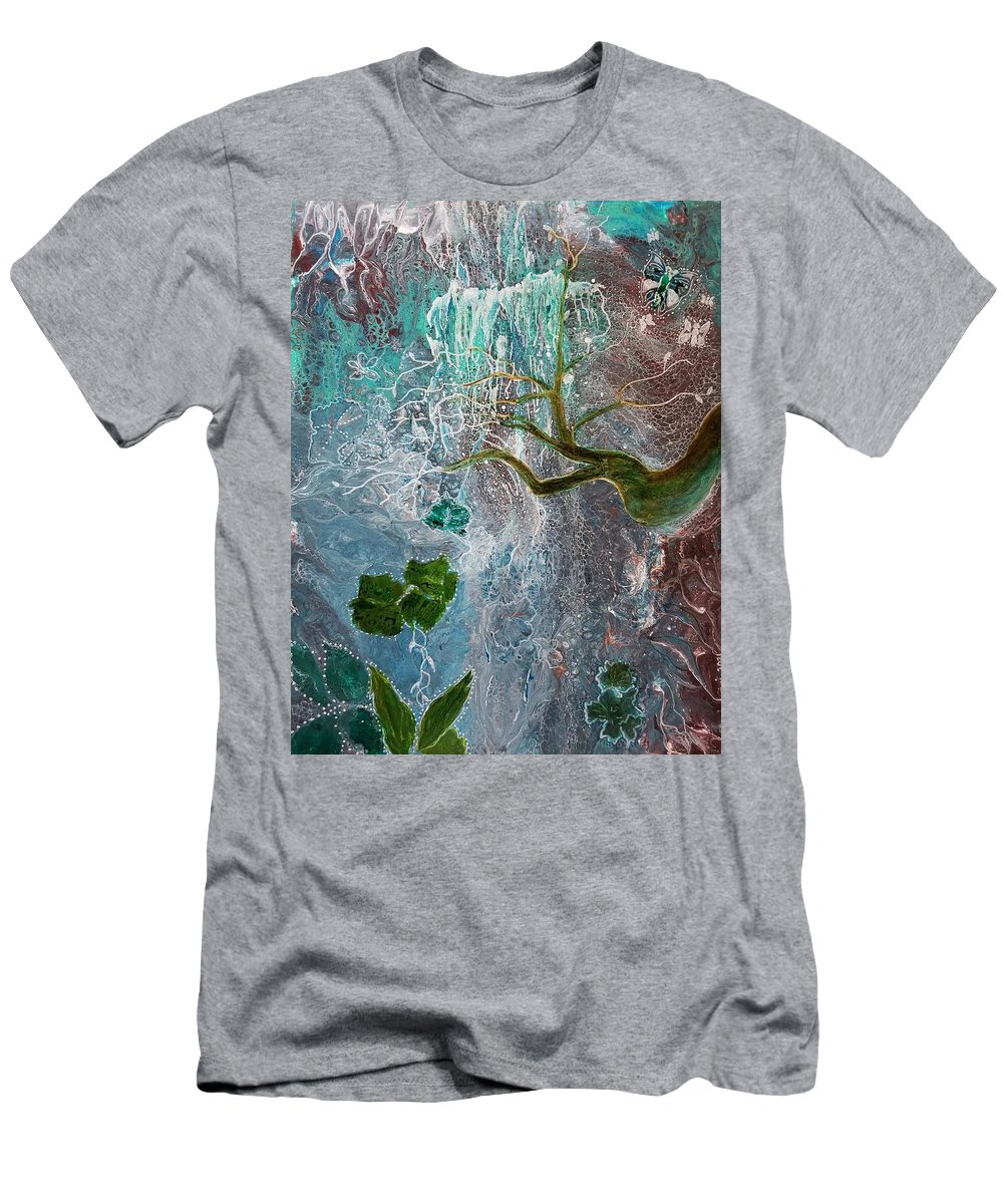 Falls T-Shirt featuring the painting The Falls 2 by Valerie Josi